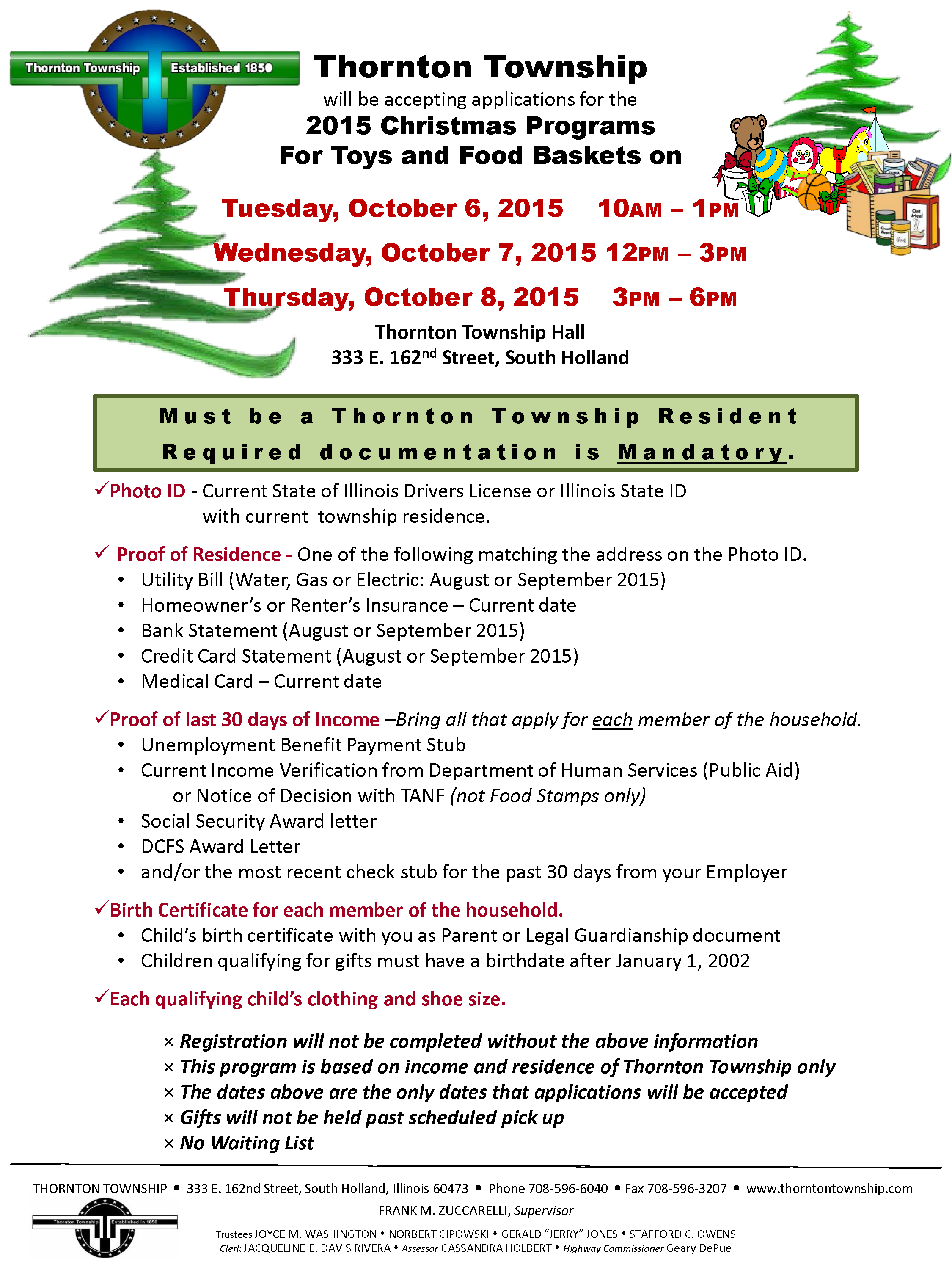 CHRISTMAS TOY food  REGISTRATION 2015 - update 1